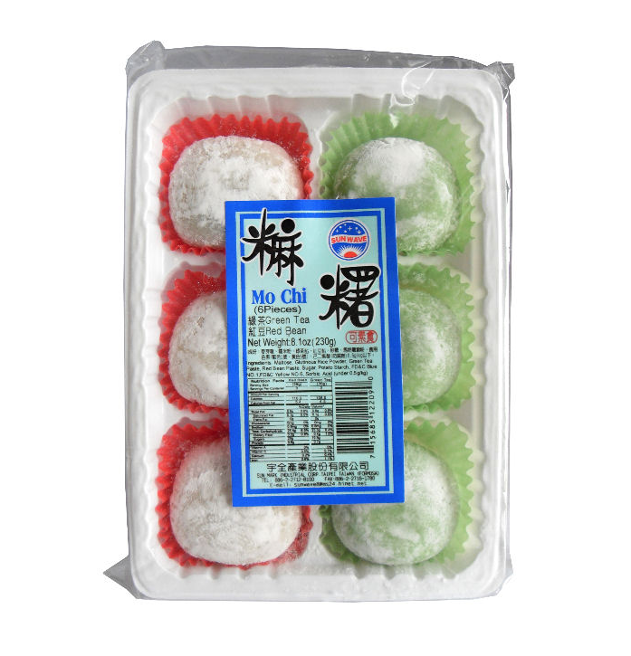 Mochi fruit 餅 , Früchte Reiskuchen 6 Stk./ 230 g, Rice cake-Green Tea & Red Bean