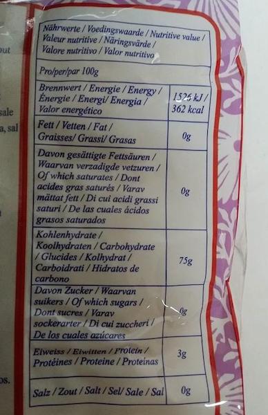 haben chinesische nudeln kohlenhydrate