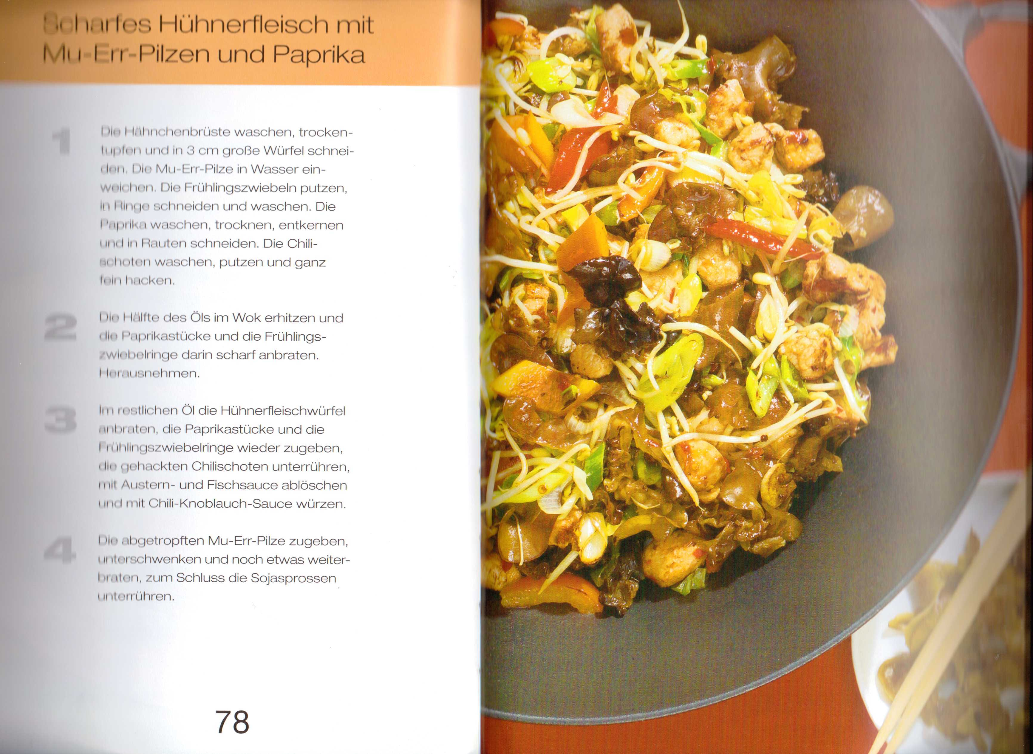 kochen mit dem wok fleisch asia food specialities. Black Bedroom Furniture Sets. Home Design Ideas