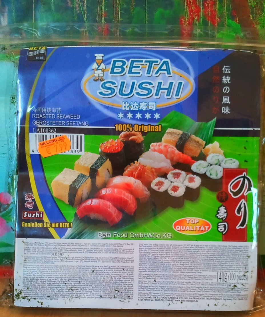 seealgen ger stet sushi nori 140g 100 blatt halbiert asia food specialities. Black Bedroom Furniture Sets. Home Design Ideas