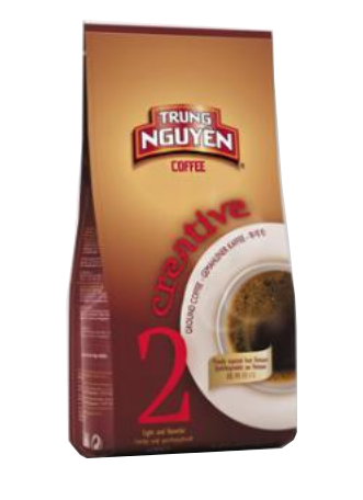 Trung Nguyen Creative 2, Ground Coffee of Vietnam, Gemahlener Kaffeebohnen