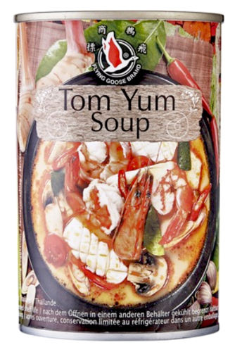 Flying goose Tom Yum Soup hot & sour, Scharf sauer Suppe 400ml